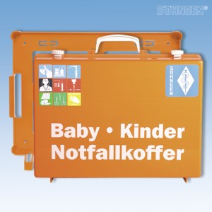 Notfallkoffer BABY-KINDER MT-CD orange