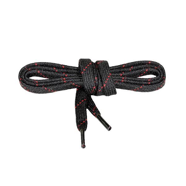 NOMEX®Senkel ( VE = 10 Paar ) feuerfest - schwarz/rot 80 cm