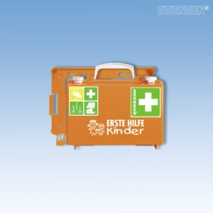 Erste-Hilfe-Koffer QUICK-CD Kombi orange 'Kindergarten'