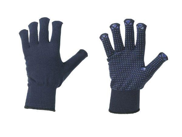 10 Paar Strick Schutzhandschuhe Arbeitshandschuhe innen Baumwolle