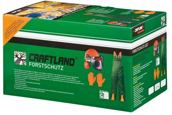 Forstschutzset: KWF geprüfte Schnittschutz-Latzhose + Helmkombination + Handschuhe
