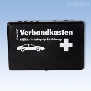 Verbandkasten Austria schwarz für zweispurige Fahrzeuge