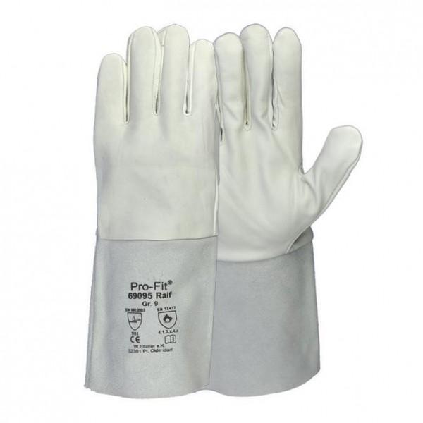 Arbeits-handschuhe Gr/ö/ße: 9 Sicherheitshandschuhe f/ür Schweisser ISO Schwei/ßerhandschuhe FULDA
