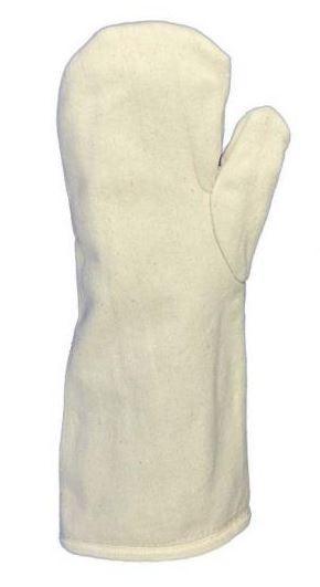 Segeltuch-Fausthandschuh, 40 cm lang, Kontakthitzeschutz bis 250°C, Lebensmittelgeeignet
