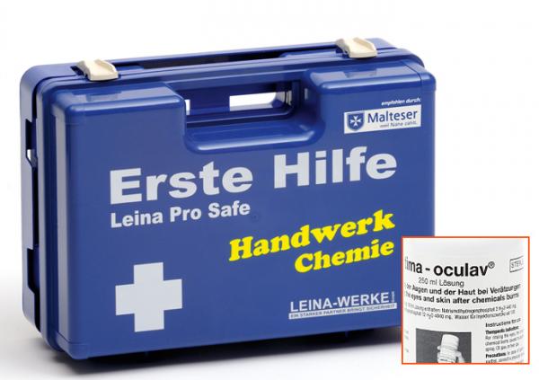 Erste-Hilfe-Koffer Leina Pro Safe - Handwerk: Chemie