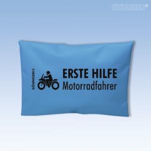 Erste Hilfe Motorradfahrer blau