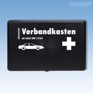 KFZ-Verbandkasten KU schwarz mit Füllung Standard DIN 13164