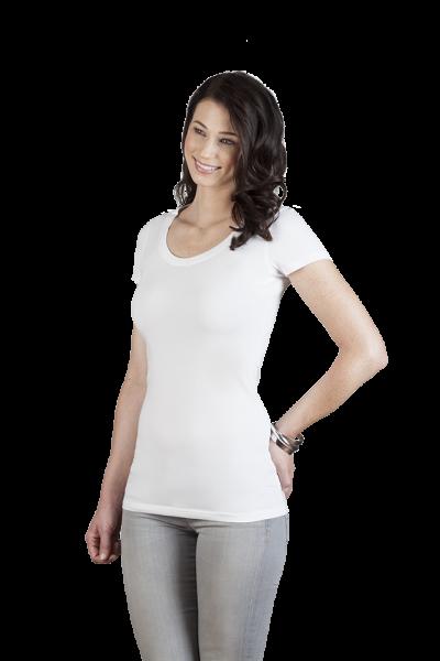 promodoro Womens Slim Fit V-Neck-T Long