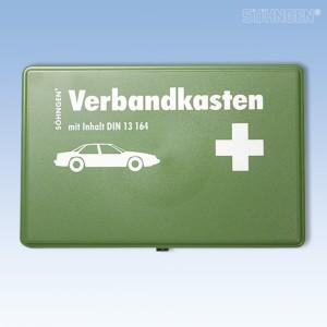 KFZ-Verbandkasten leer Kunststoff grün