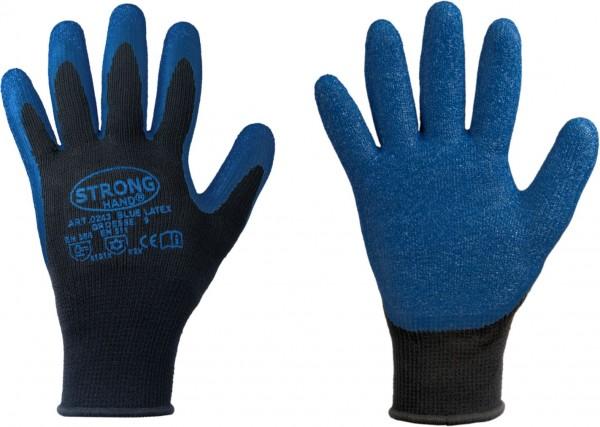 Blue Latex STRONGHAND® Winterhandschuhe mit rutschfester Latex-Beschichtung