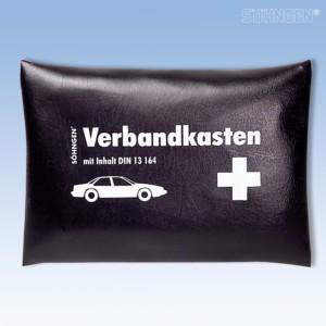 KFZ-Verbandkissen schwarz mit Füllung Standard DIN 13164