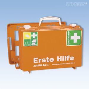Erste Hilfe-Koffer SN-CD orange Füllung Ö-Norm Z 1020-1