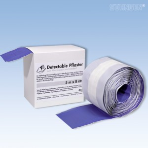 Pflasterverband detectable 5m x 8cm