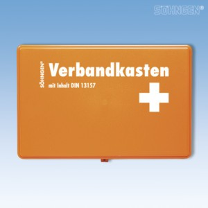 Verbandkasten KIEL KU-orange mit Füllung Standard DIN 13157