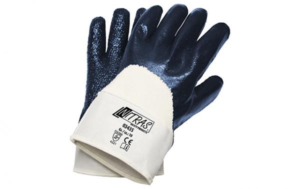 NITRAS 03435 Nitrilhandschuhe, blau, teilbeschichtet, Innenhand BW-Schlingengewebe