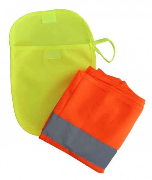 Neon-gelbe Tasche für Warnweste