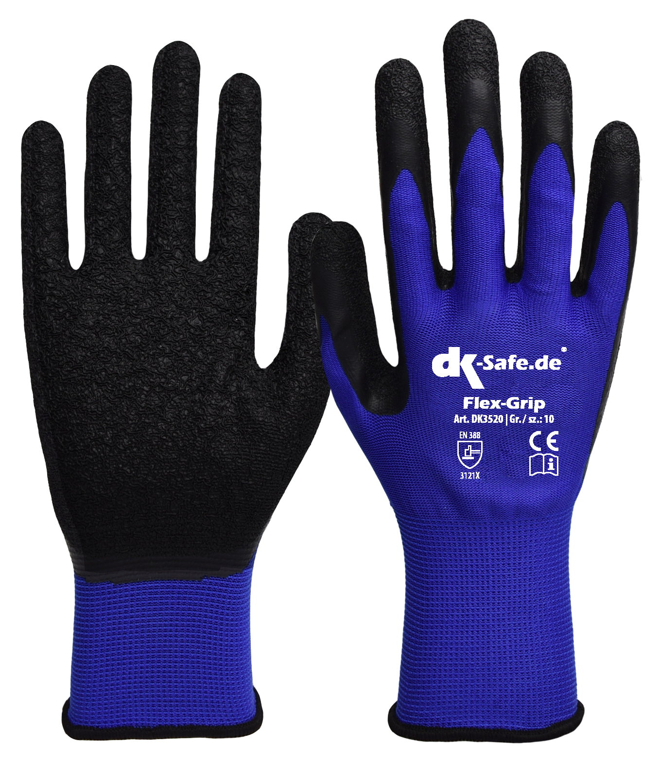 dk safe flex grip 3520 latex handschuhe g nstig. Black Bedroom Furniture Sets. Home Design Ideas