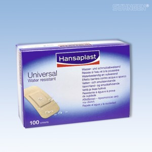 Hansaplast UNIVERSAL Strips 3,0 x 7,2cm 100 Stück