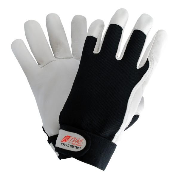 DEXTER 1 Mechanikerhandschuhe aus geschmeidigem und strapazierfähigem Nappaleder mit Klettverschluss