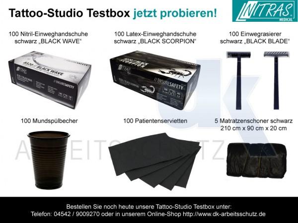 Tattoo-Studio Testbox 6 Einwegprodukte für Ihren Tattoobedarf
