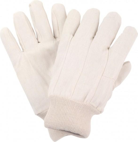 BW-Körper-Handschuhe, rohweiß, 8oz., mit Strickbund