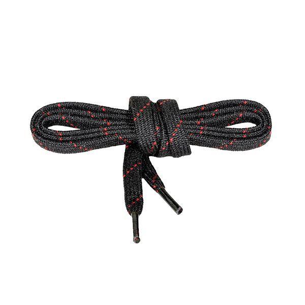 NOMEX®Senkel ( VE = 10 Paar ) feuerfest - schwarz/rot 110 cm