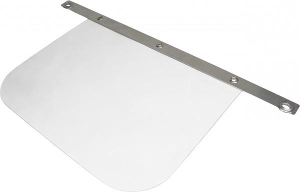 VOSS Gesichtsschutzschild PC 350*300 mm glasklar, mit Alu-Schiene