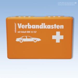 KFZ-Verbandkasten leer Kunststoff orange