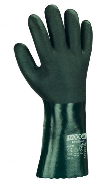 texxor - topline PVC grün Chemikalienschutzhandschuh 35cm lang, CE CAT 3