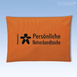 Persönliche Notverbandtasche orange