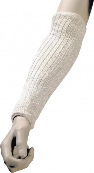 Armschoner aus 100% Spezialfaser, mit Stahlfaden verstärkt, weiß, 35cm Länge