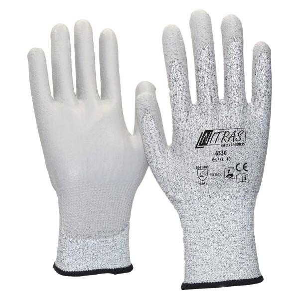NITRAS ESD CUT3, Schnittschutz-Handschuhe, PU beschichtet, touchscreenfähig