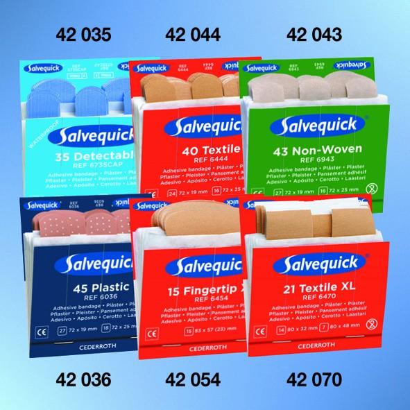 Salvequick® Nachfülleinsatz Pflasterabschnitte elastisch