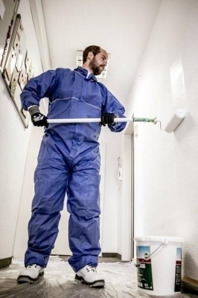 NITRAS Polysafe Basic II 1020609B, SMS-Overall, blau, geprüft als Chemikalienschutzkleidung