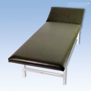 Ruheraumliege Stahlrohr Kopfteil verstellbar, moosgrün