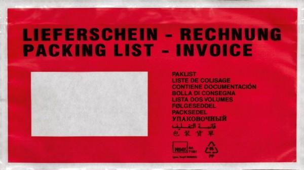 Lieferschein/Rechnung Versandtasche