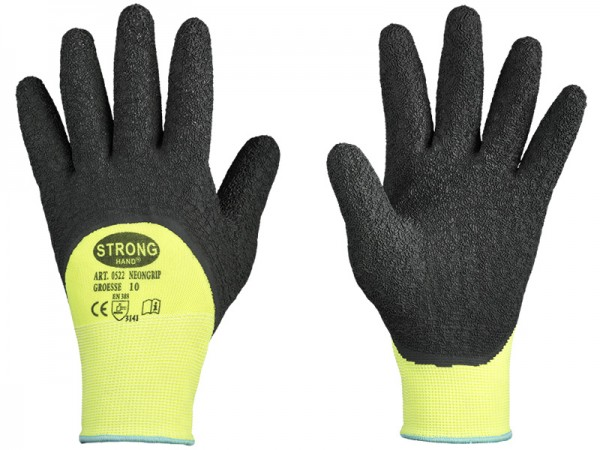1 Paar TOWA PowerGrab Thermo gelb Handschuhe Arbeitshandschuhe Winterhandschuhe