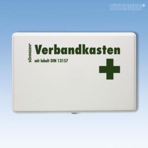 Verbandkasten KIEL KU-weiß mit Füllung Standard DIN 13157