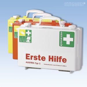 Erste Hilfe-Koffer SN-CD grün Füllung Ö NormZ1020-1
