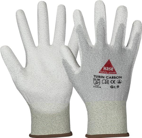 TURIN CARBON Antistatic Nylon/Carbon-Strickhandschuh mit