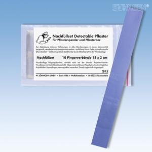 Nachfüllset detectable Fingerverband 18x2 cm a 10 St.