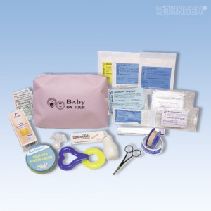 Erste-Hilfe-Tasche Baby on Tour rosa