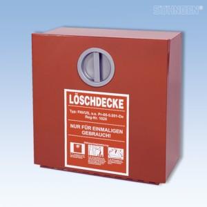 Wandbehälter für Löschdecke EN leer Metall 300x300x125 mm