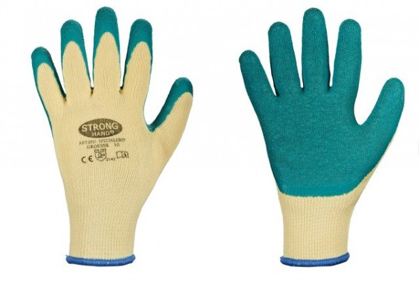 70dfcc32be2755 STRONGHAND 0501 Specialgrip Strickhandschuhe mit robuster Latexbeschichtung