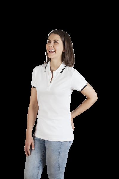 promodoro Womens Polo Contrast Stripes